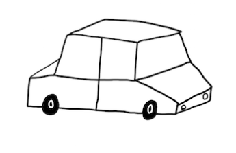 Cerveny VW Pasat