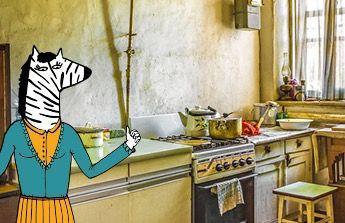 částečnou rekonstrukci kuchyně své maminky