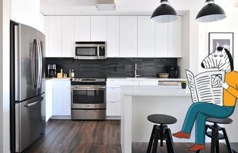 Nová kuchyň, podlahy a stavební upravy