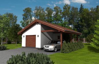 Dostavba garáže a pergoly