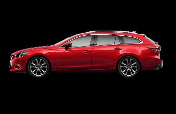Červená Mazda 6 kombi