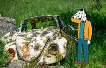 Opravu automobilu Sharan.